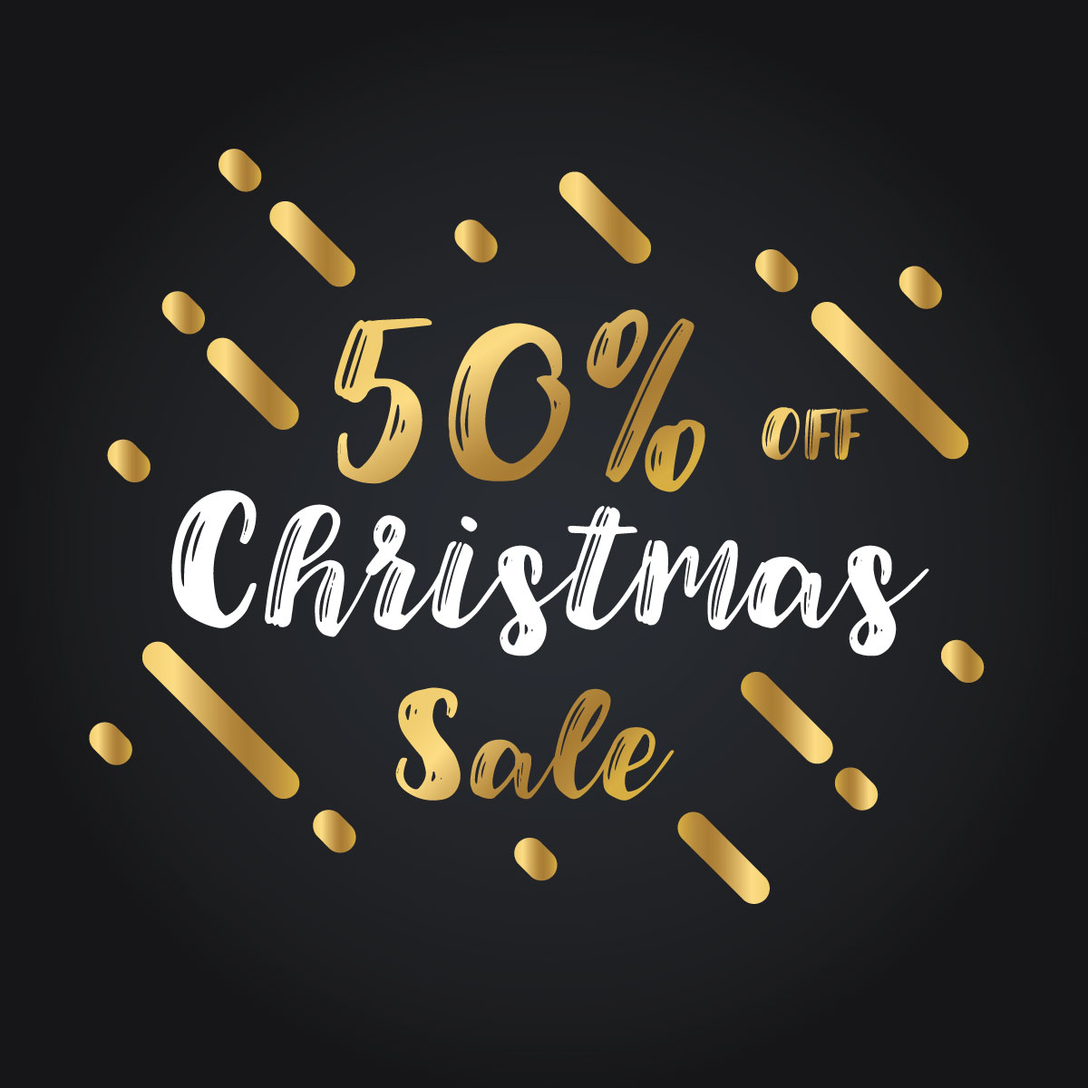 Christmas and New Year 2018 Discount Sale banners example image 2