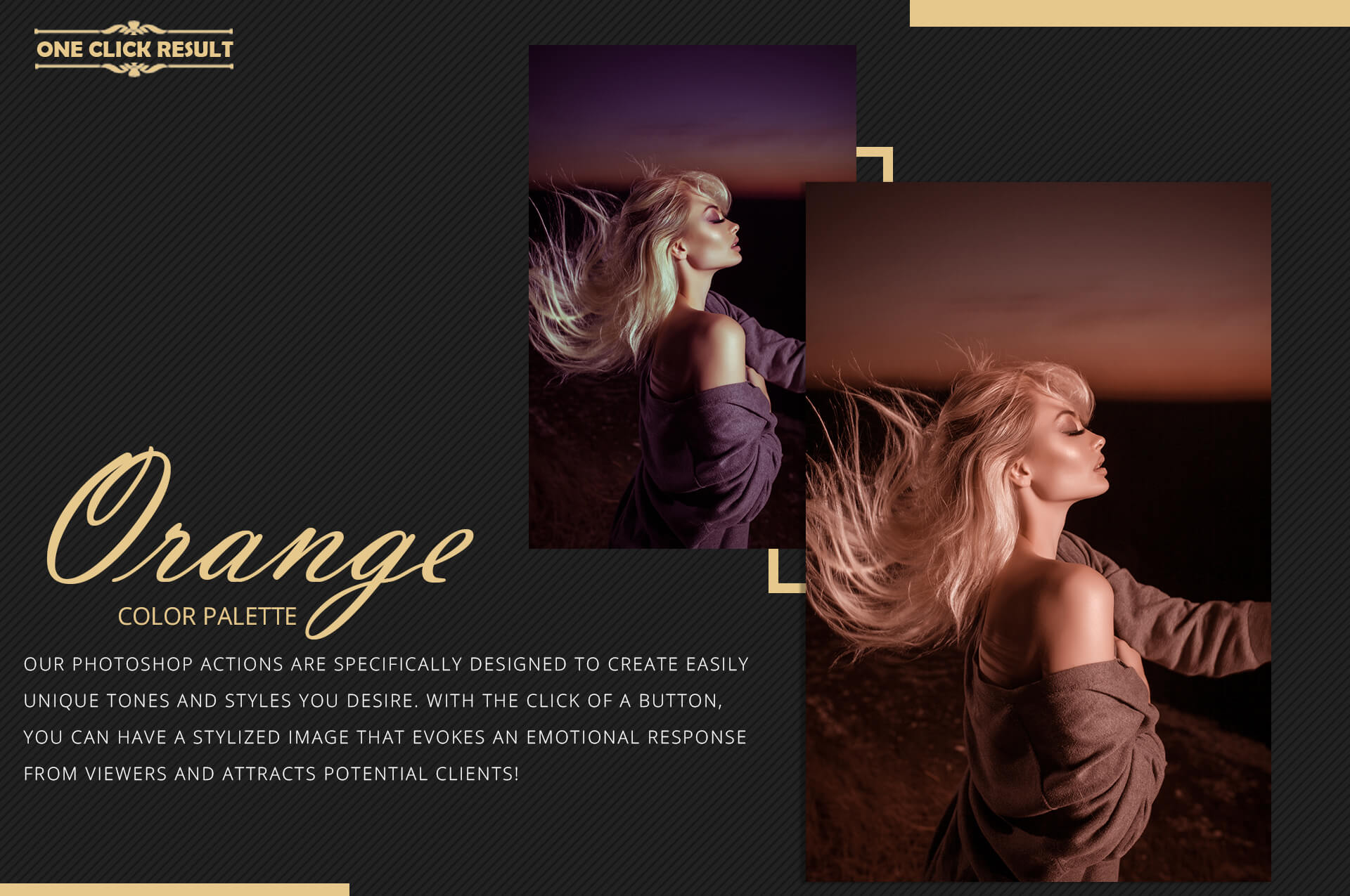 Orange Theme Color Grading Photoshop Action example image 8