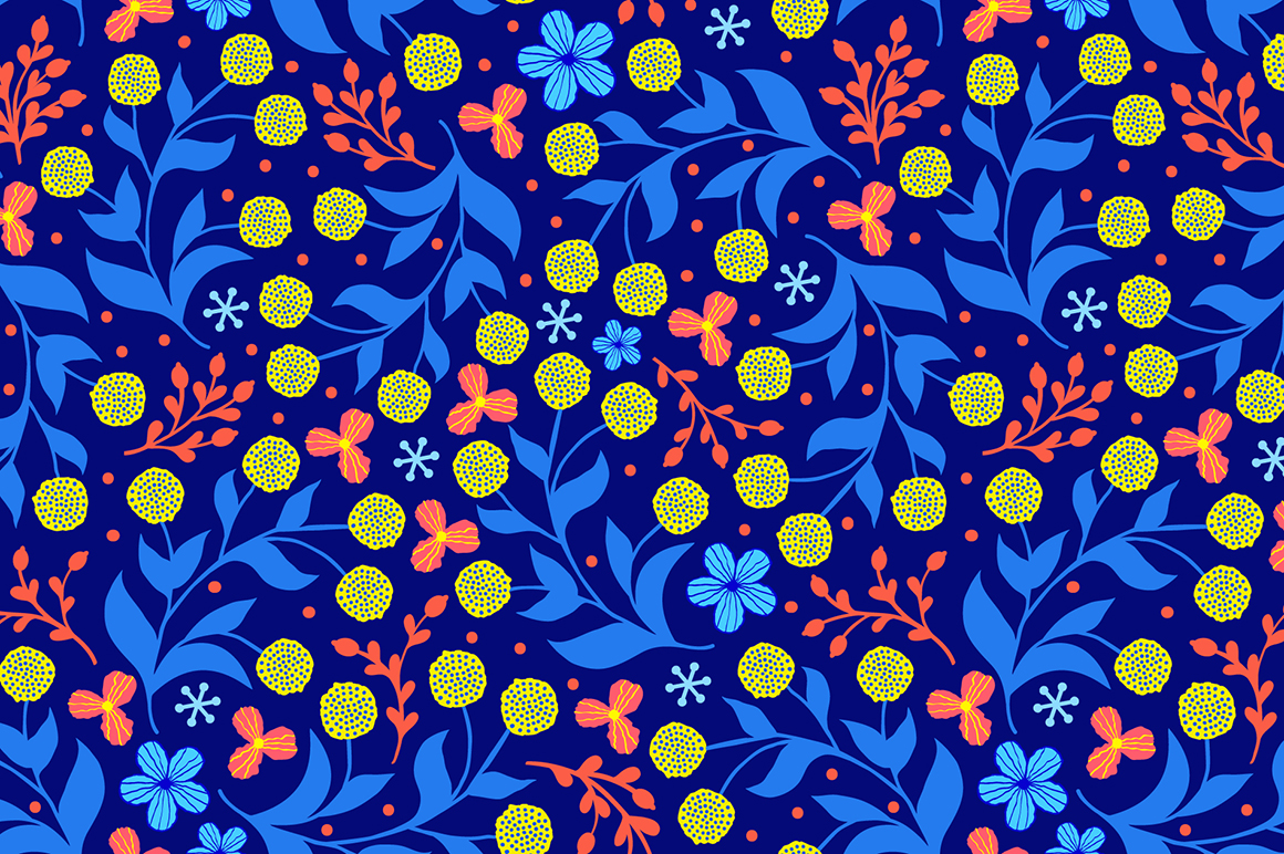 Spring tulips. Seamless patterns. example image 6