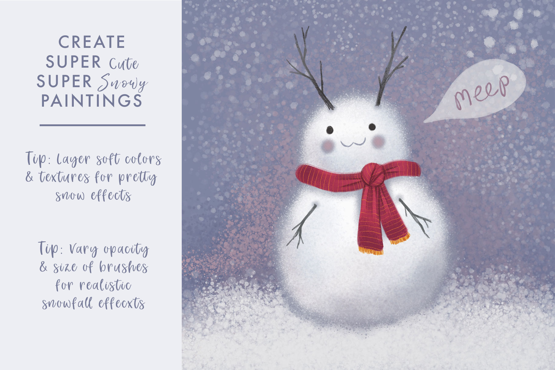 Magical Snow Procreate Brushes example image 5
