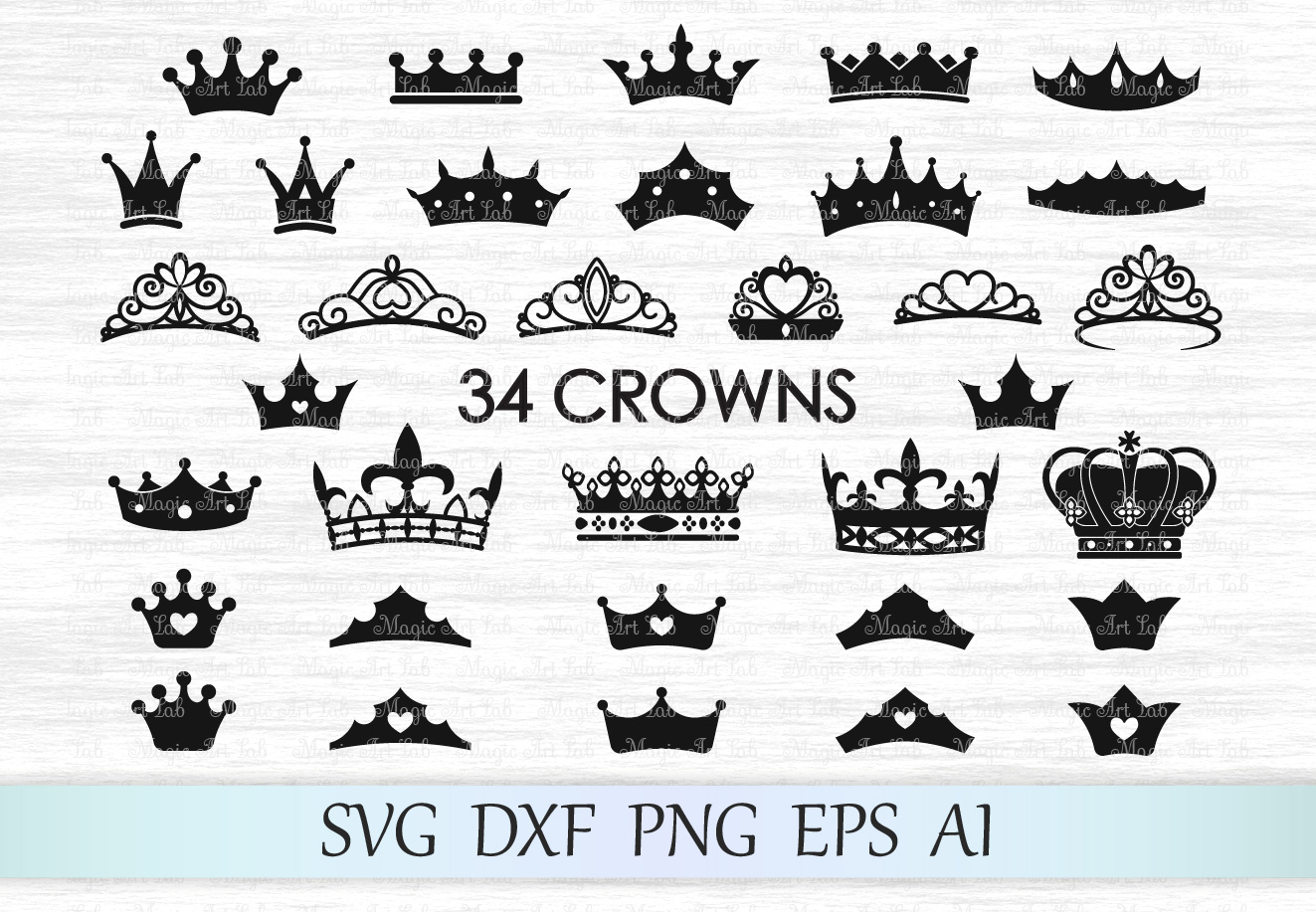 Crown svg, Crown svg file, Crowns svg, Tiara svg, Crown cut file, Princess crown svg, King crown svg, Crown clipart, Queen crown example image 1