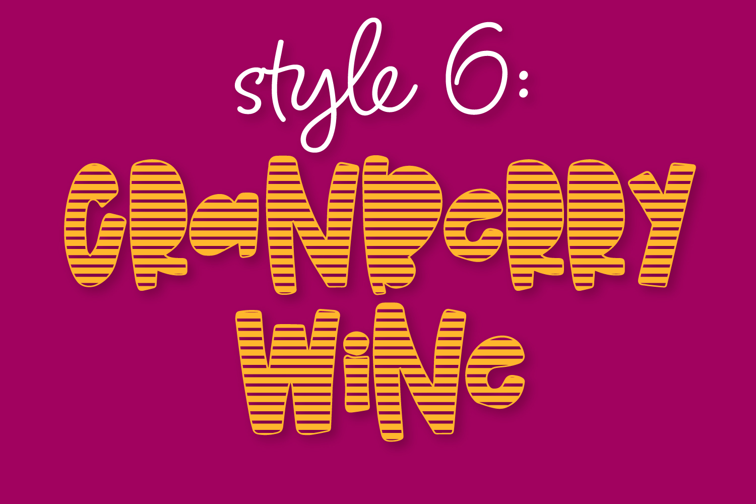 Cranberry Wine - A Striped Font Family of 6 New Fonts! example image 8