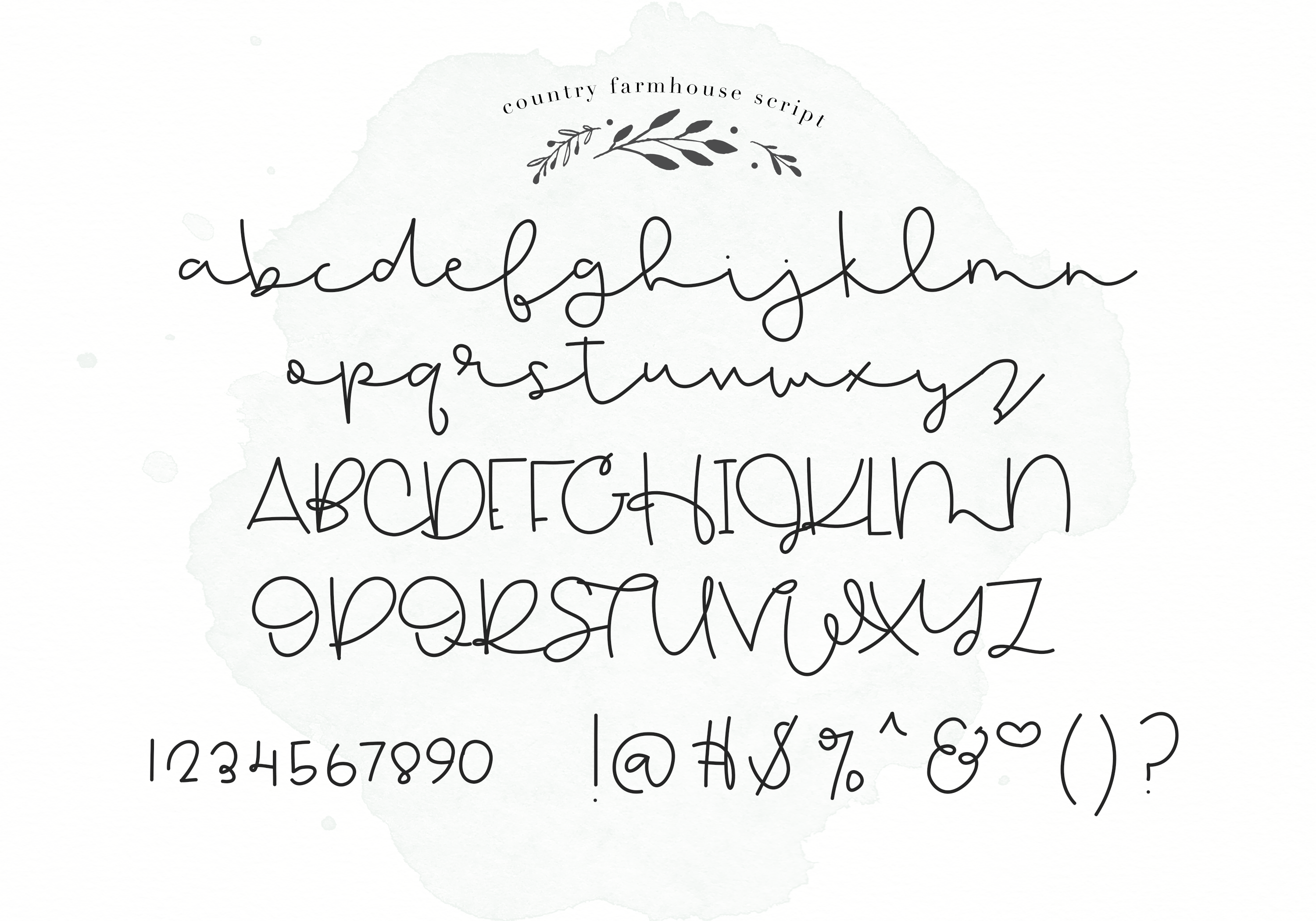 Country Farmhouse - A Handwritten Script & Serif Duo example image 10
