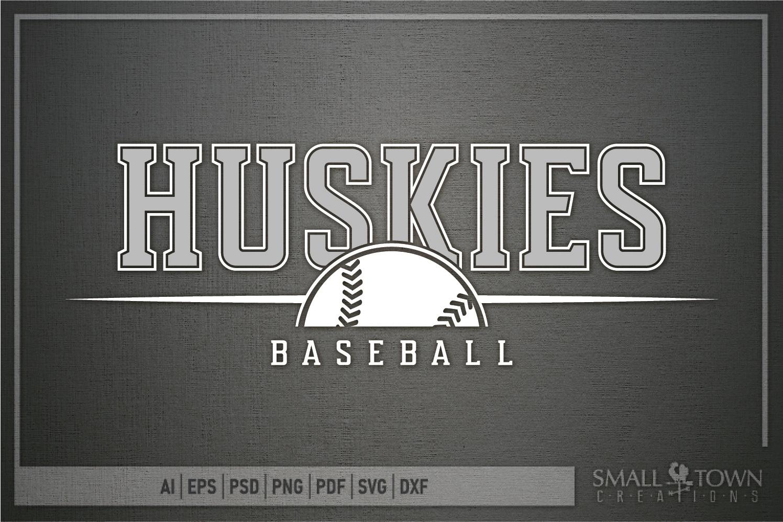 Huskies, Huskies Baseball, Team, logo, PRINT, CUT & DESIGN example image 5