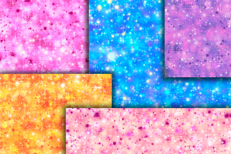 Star sparkle digital paper example image 3