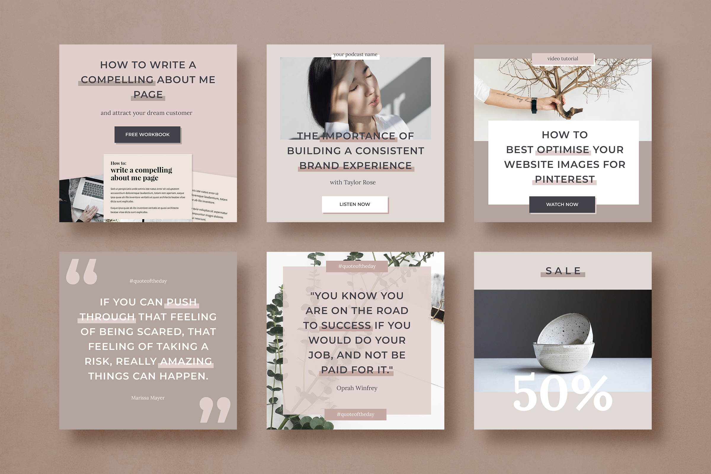 Instagram post template pack for bloggers example image 5