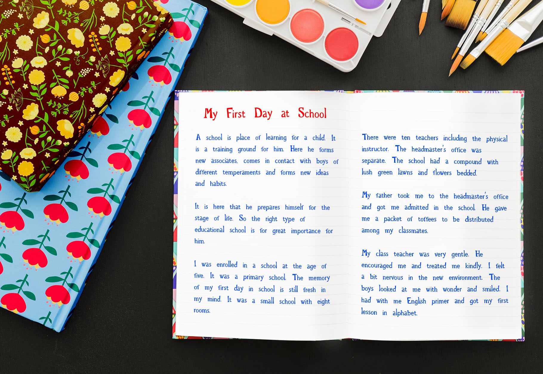 Rainbow Chalk fun kids font example image 8