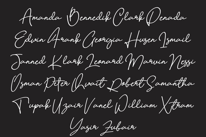 Quetzalli signature font example image 7