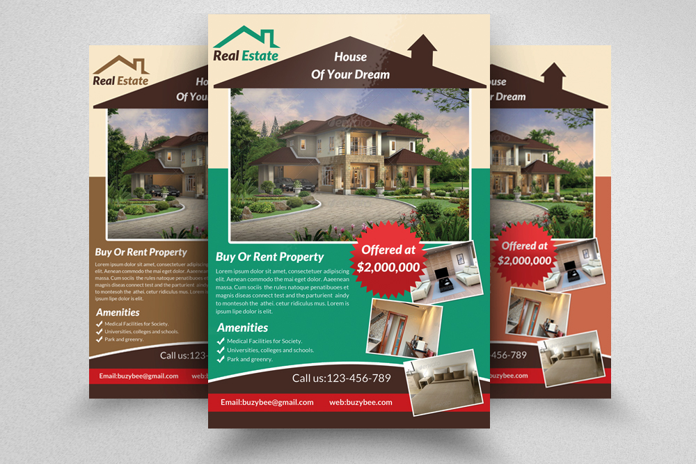 6 Real Estate Business Flyers Bundle example image 2