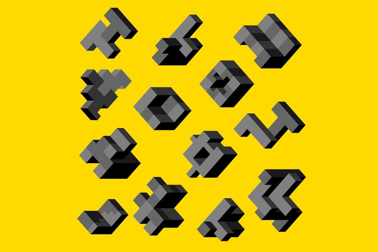 Isometric abstract geometric example image 1