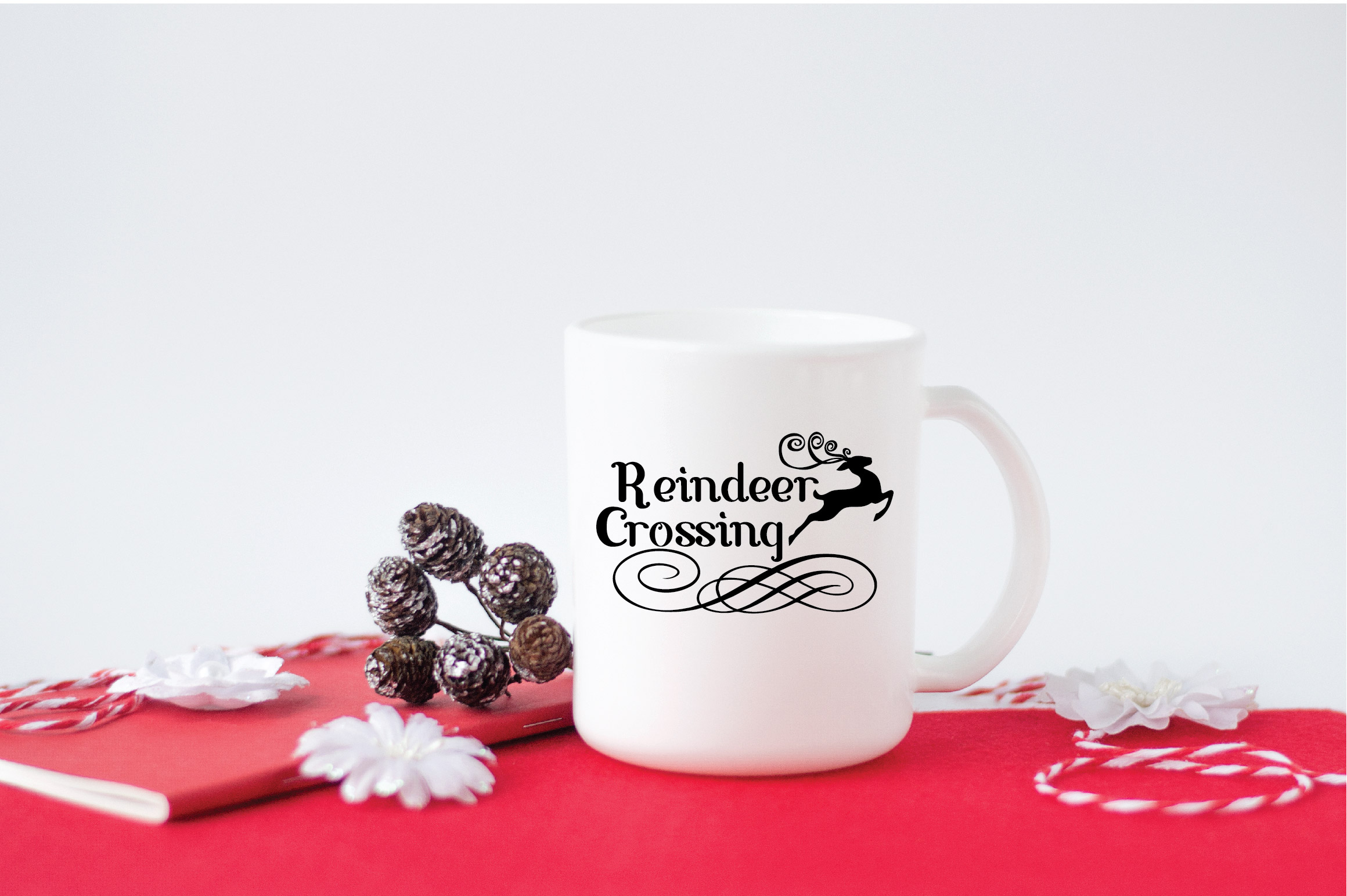 Christmas SVG Cut File - Reindeer Crossing SVG DXF PNG EPS example image 5