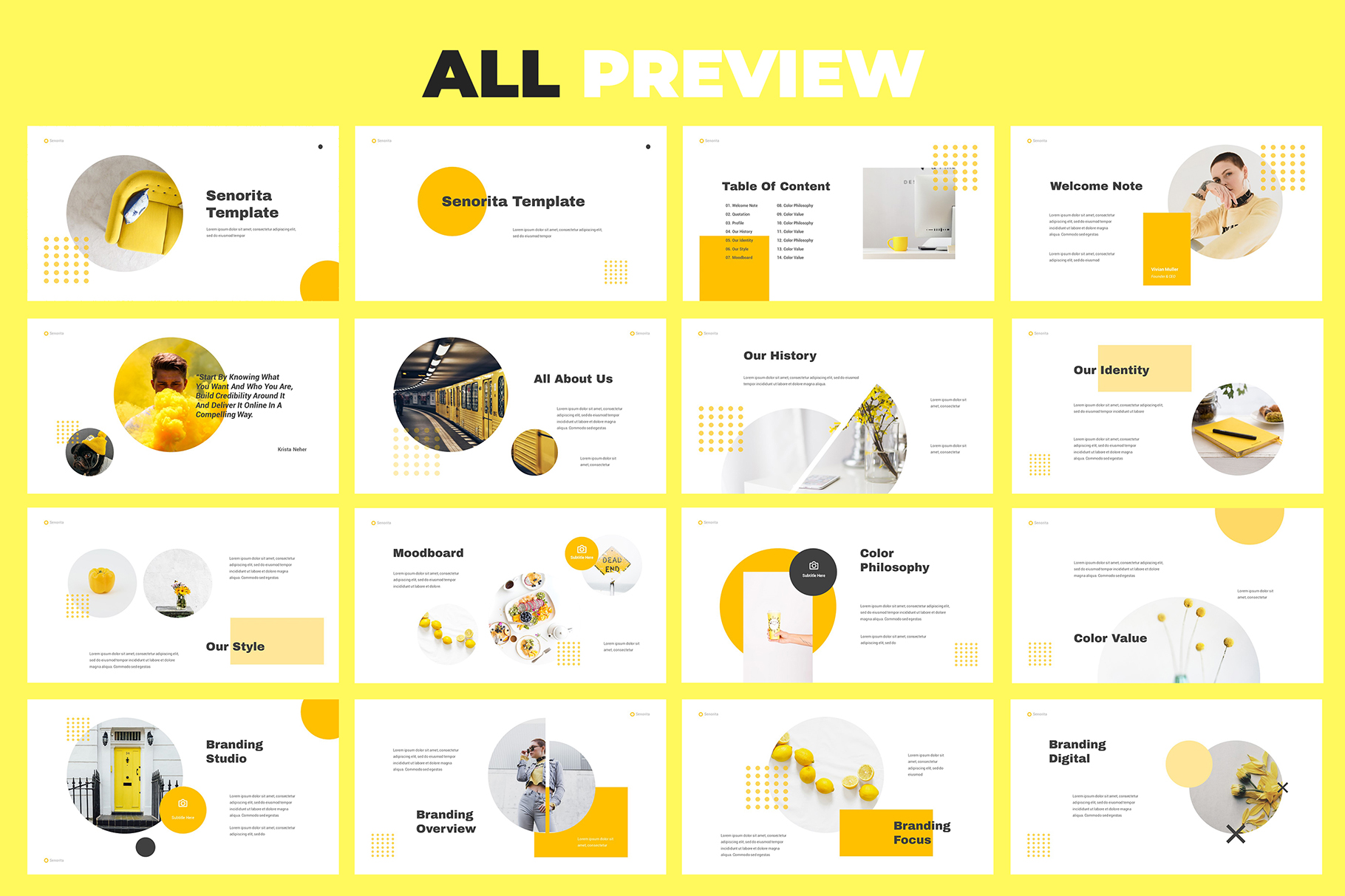 Senorita Brand Guideline Powerpoint example image 5