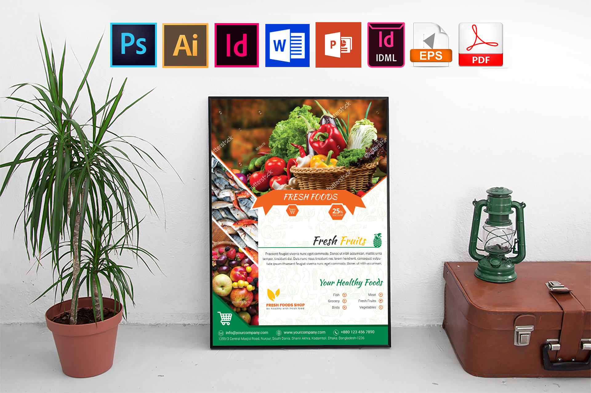Poster | Fresh Food Shop Vol-03 example image 1
