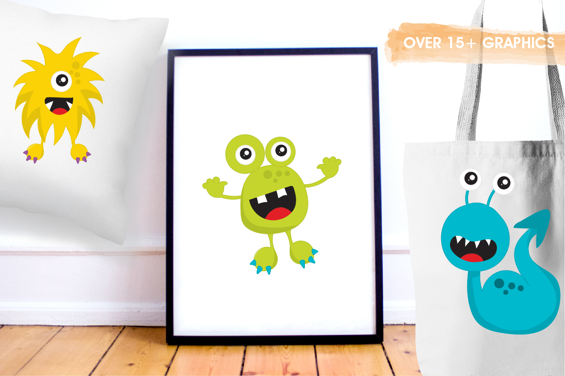 Party Monsters graphics and illustrations example image 5