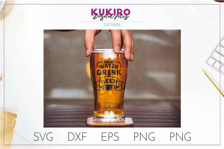 Save water drink beer SVG - Funny quote - Father's day SVG example image 2