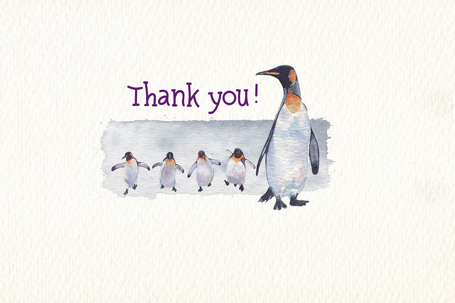 Penguins watercolor clipart example image 9