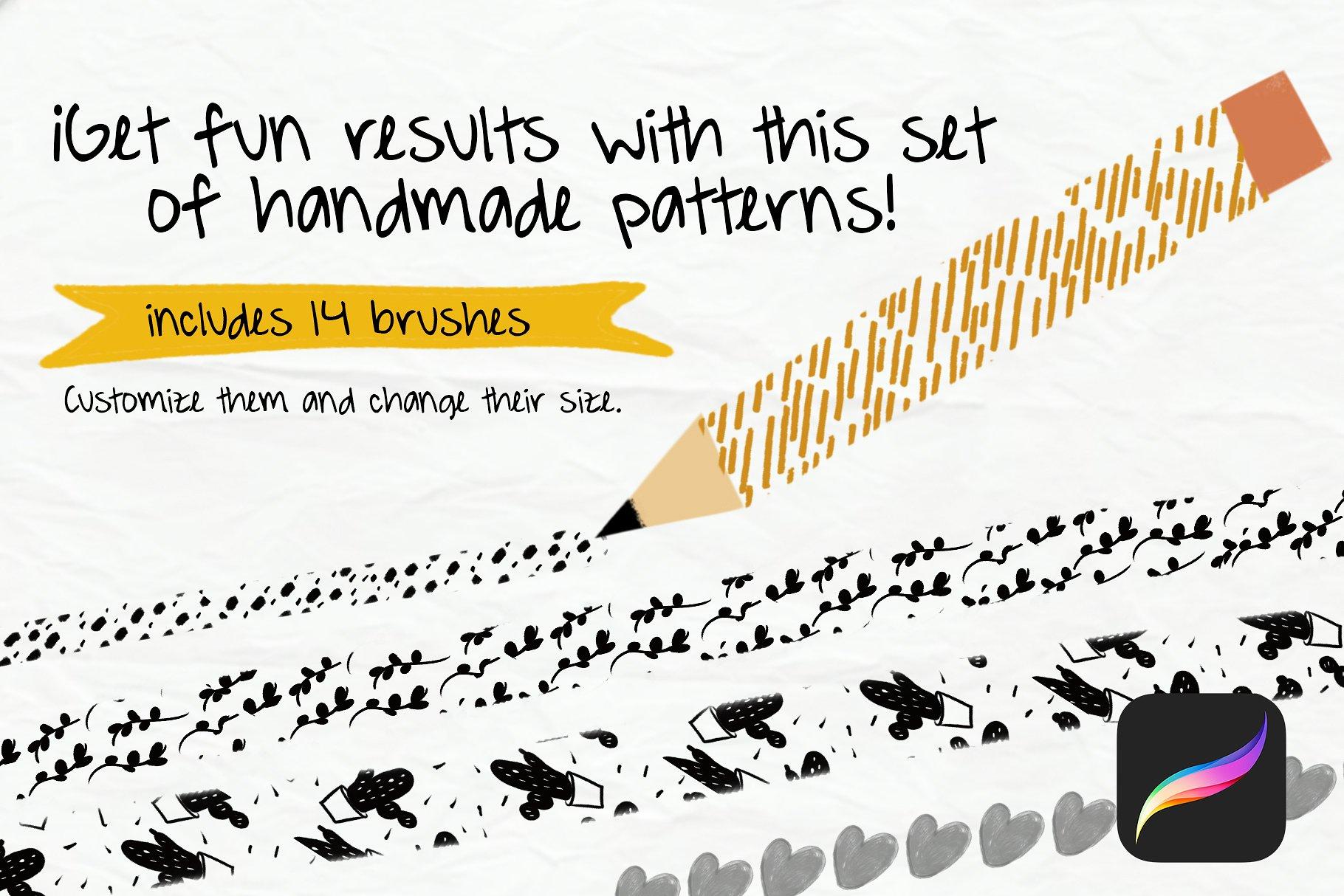 Handmade Brush Pattern - Procreate example image 5