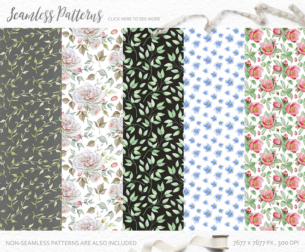 15%OFF. Watercolor Floral Collection example image 18