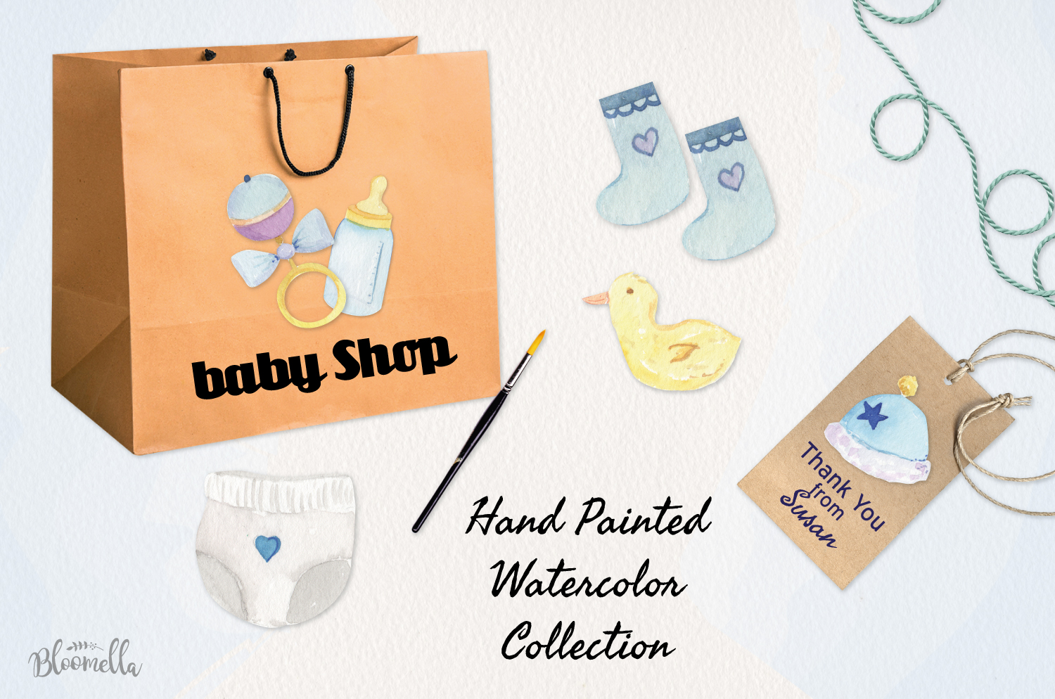 Baby Boy Watercolor Collection example image 2