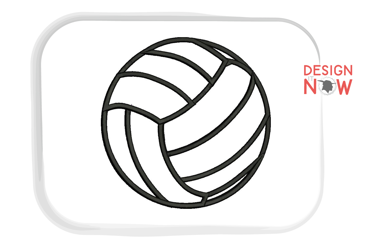 Volleyball Applique Design, Sport Embroidery, Ball Applique example image 3