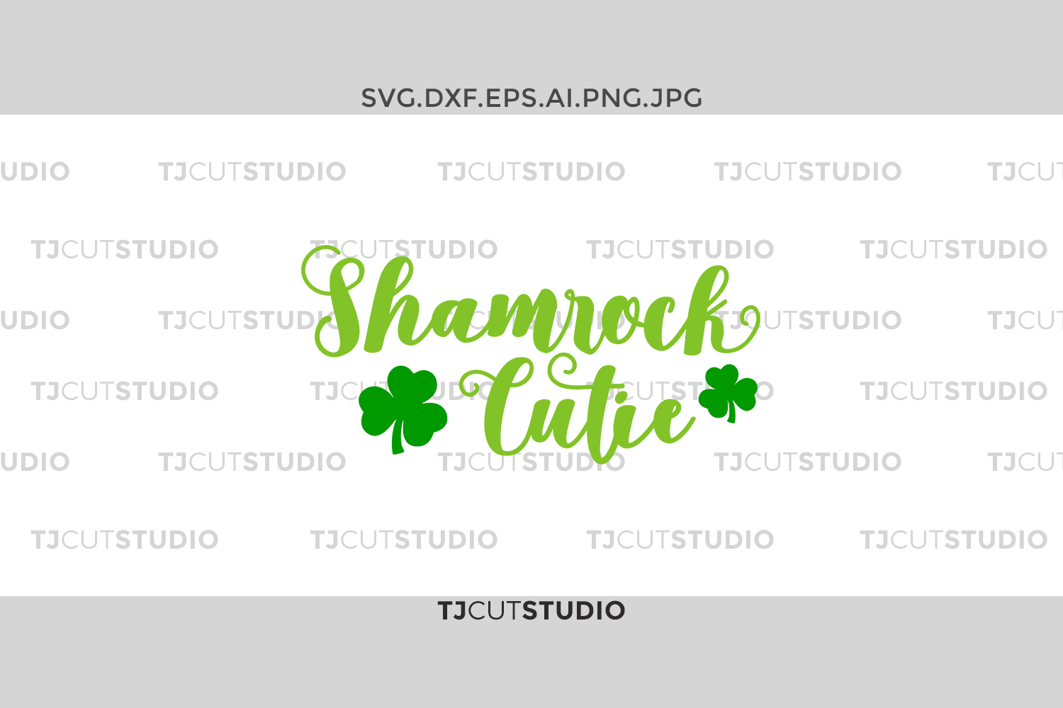 Shamrock Cutie svg, shamrock svg, pinch svg, st patricks day svg, st patricks day svg, Svg Files for Silhouette Cameo or Cricut . example image 1