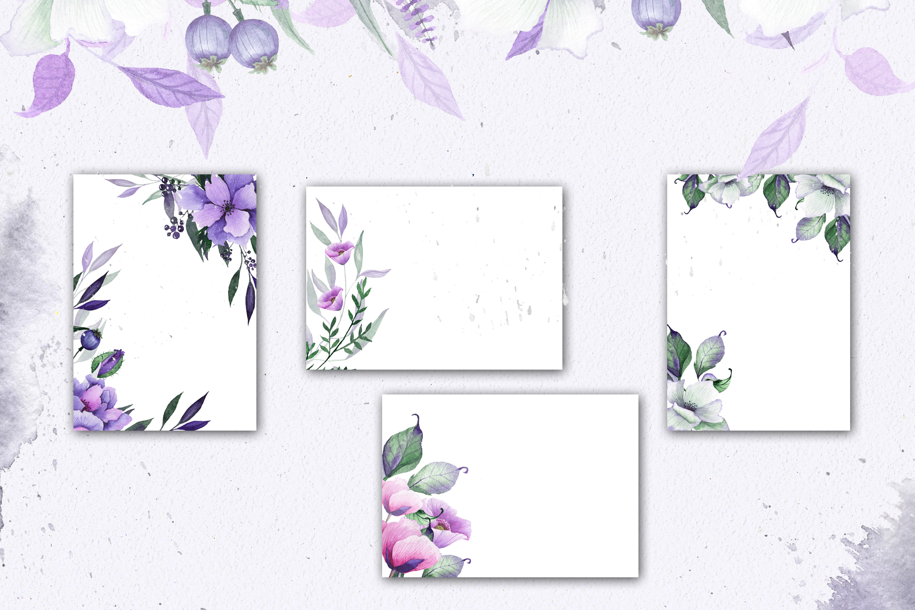 Floral purple green wedding collection example image 9