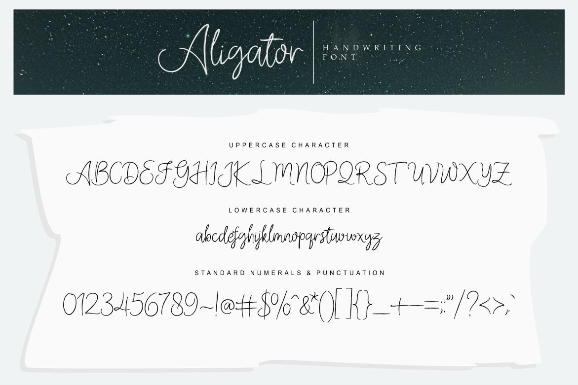 Aligator Signature Font example image 4