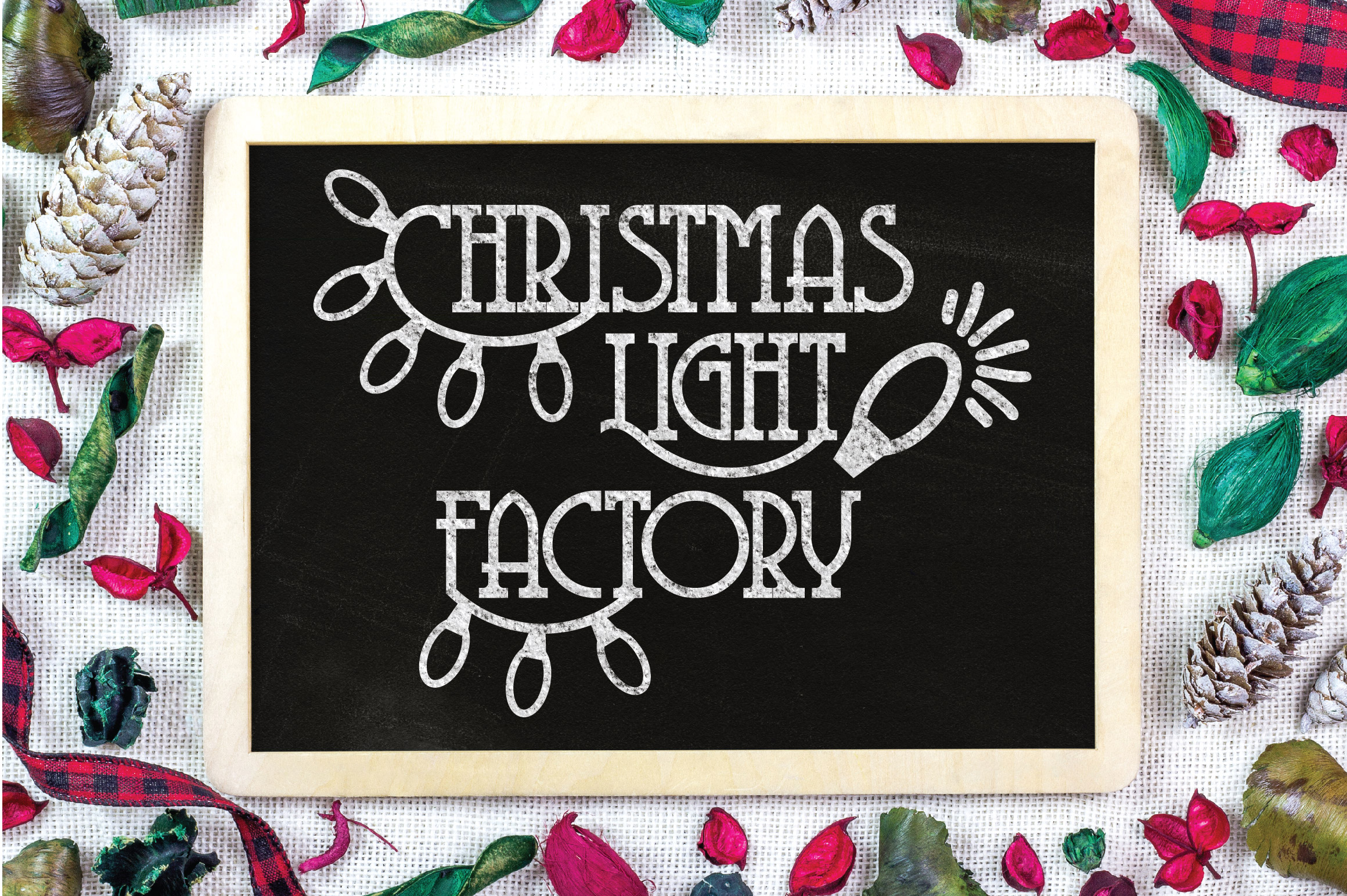Christmas SVG Cut File - Christmas Light Factory SVG DXF PNG example image 3
