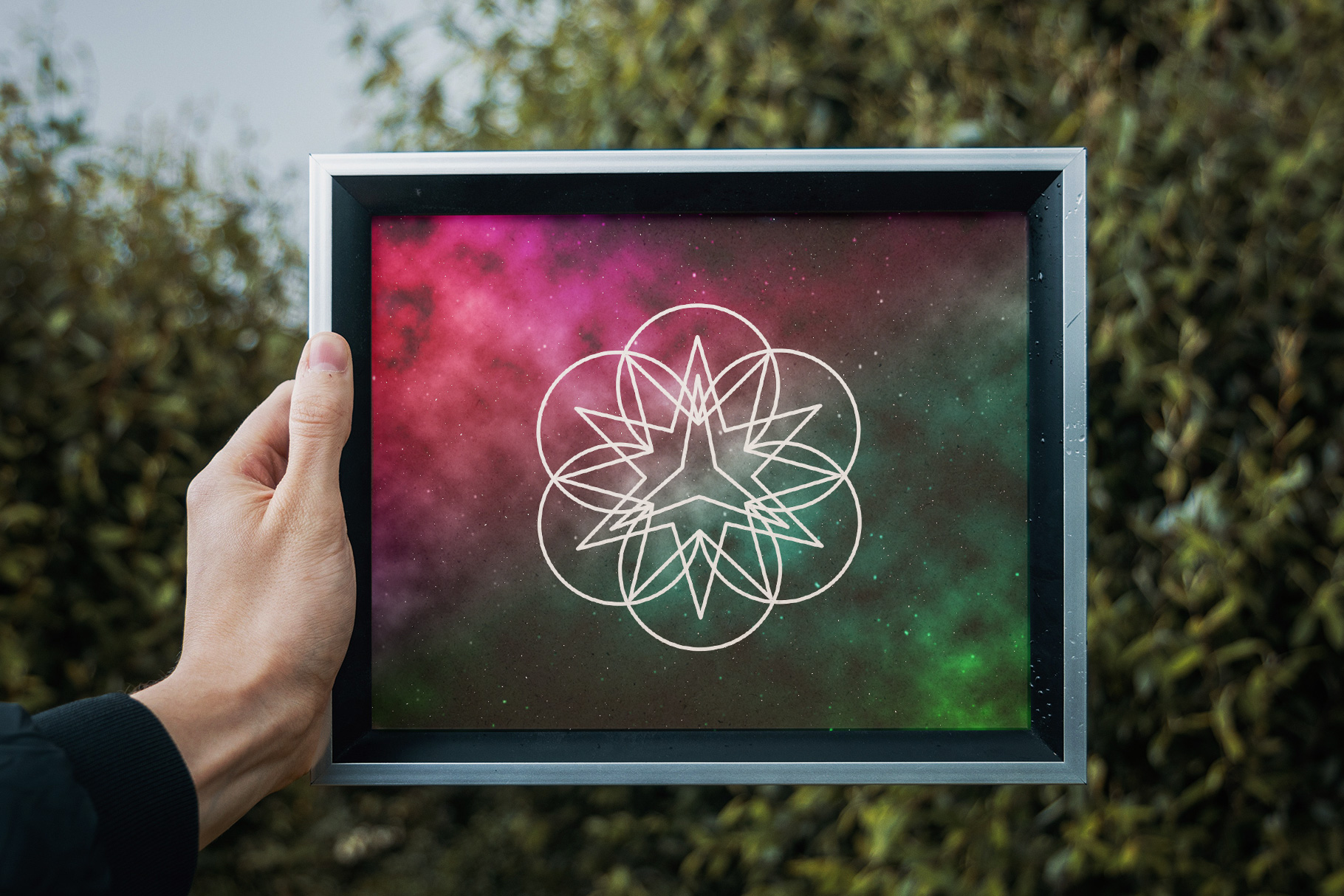 Sacred Geometry Vector Shapes Set example image 12
