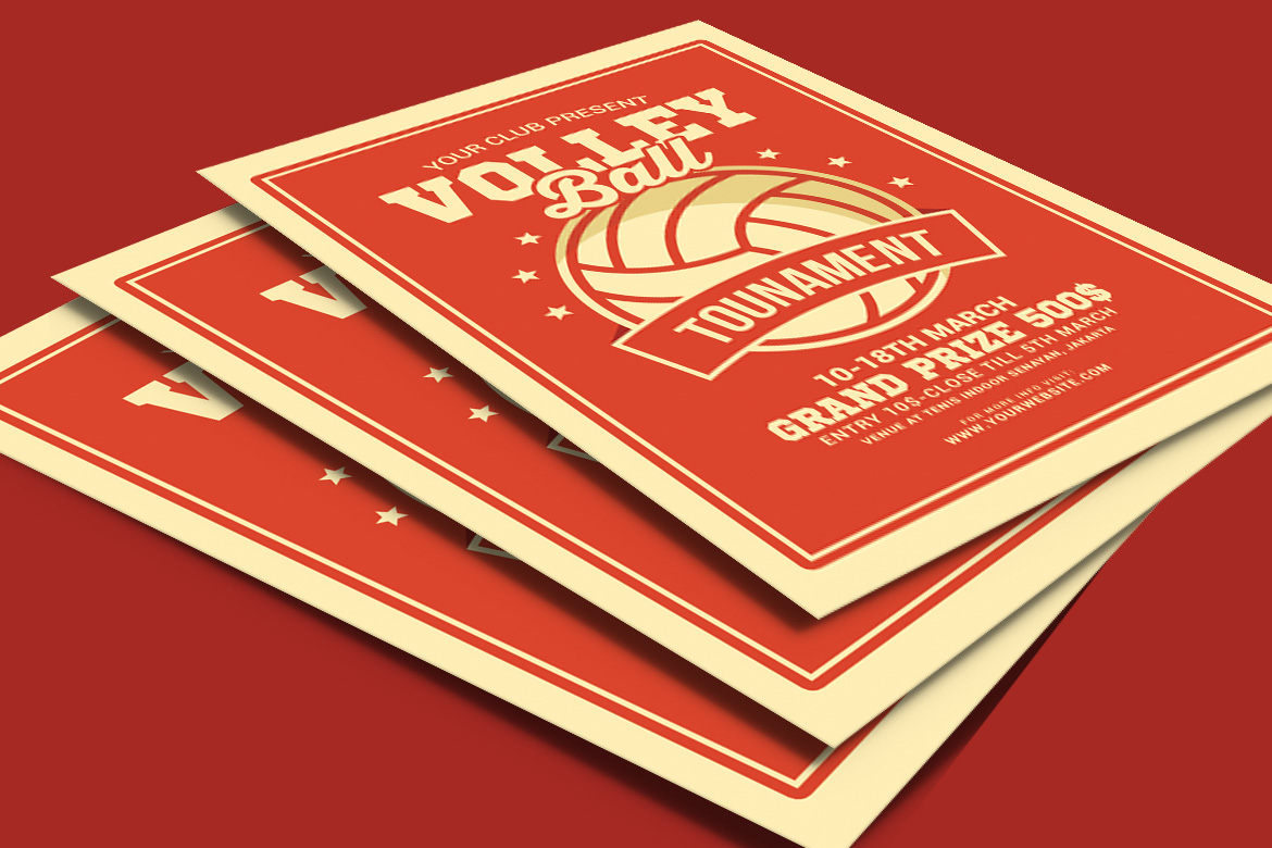 Volleyball Tournament Flyer example image 4