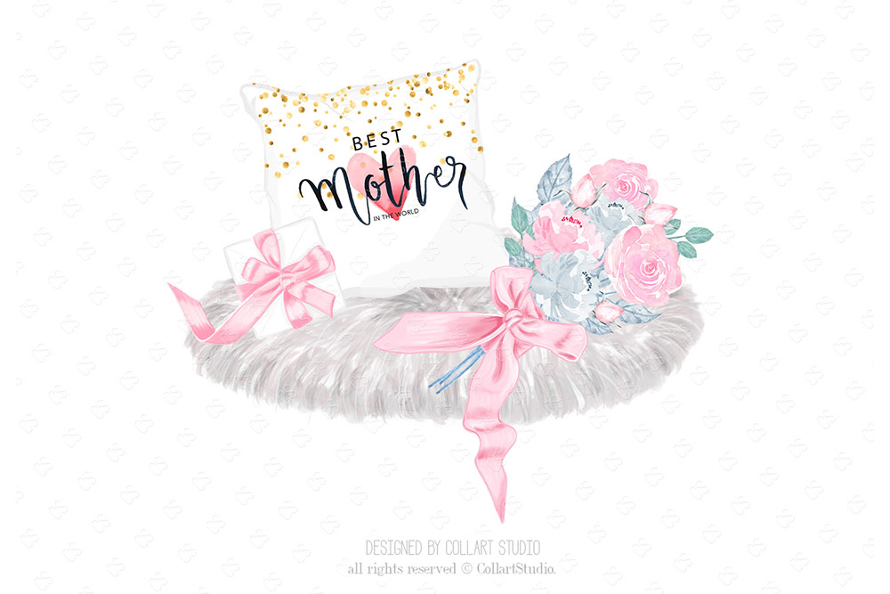 Mother's Day Clip Art, Mother Child Illustrations, Family example image 6