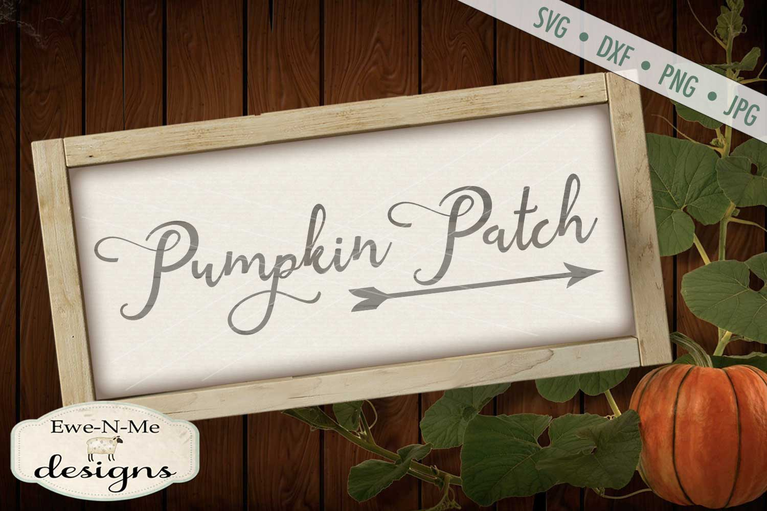 Pumpkin Patch Arrow SVG DXF Files example image 1