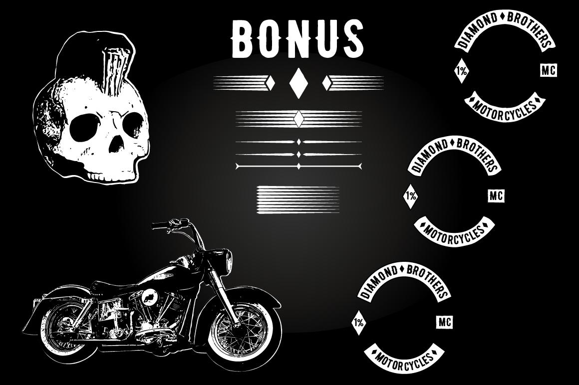 Biker Diamond Typeface example image 7