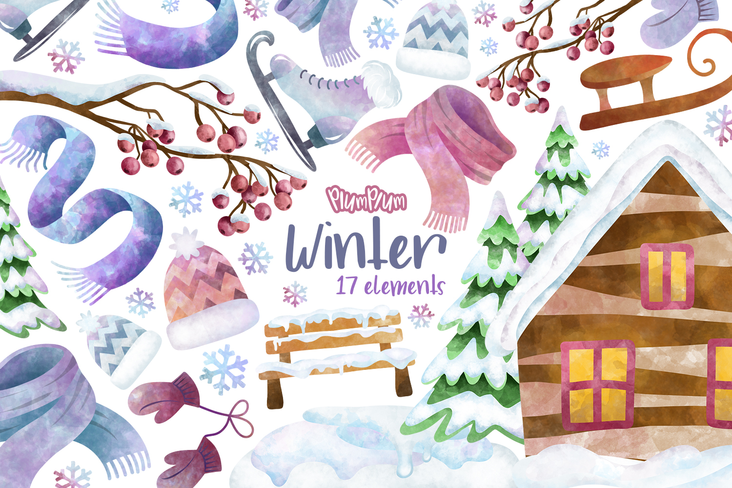 Winter Clipart Bundle example image 4