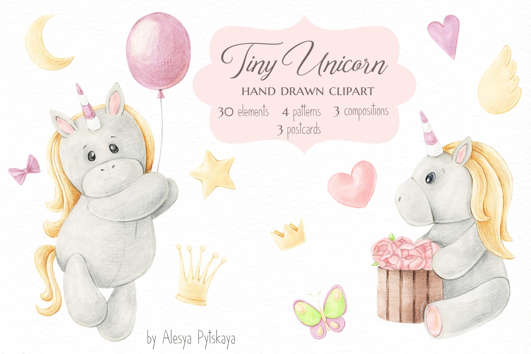 Tiny Unicorn Design Set example image 1