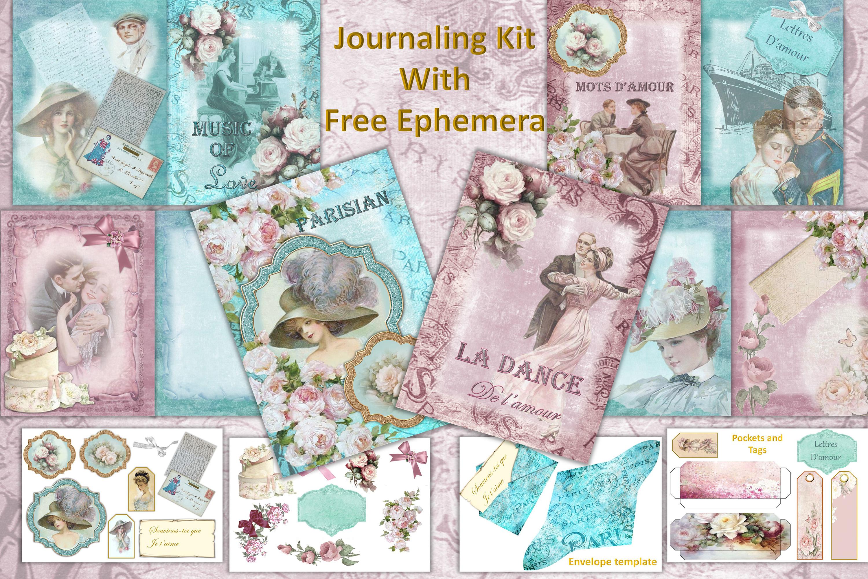 Vintage Victorian Journaling or scrapbooking & FREE Ephemera example image 1