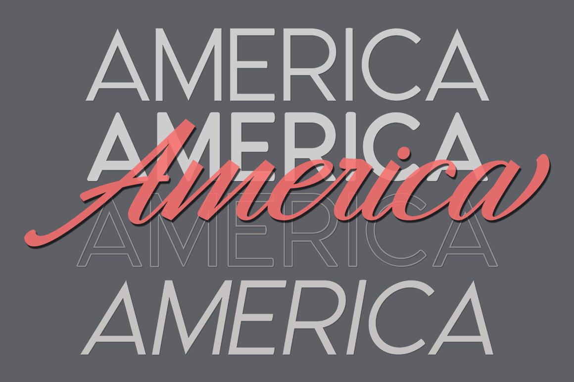 America Font Duo example image 4