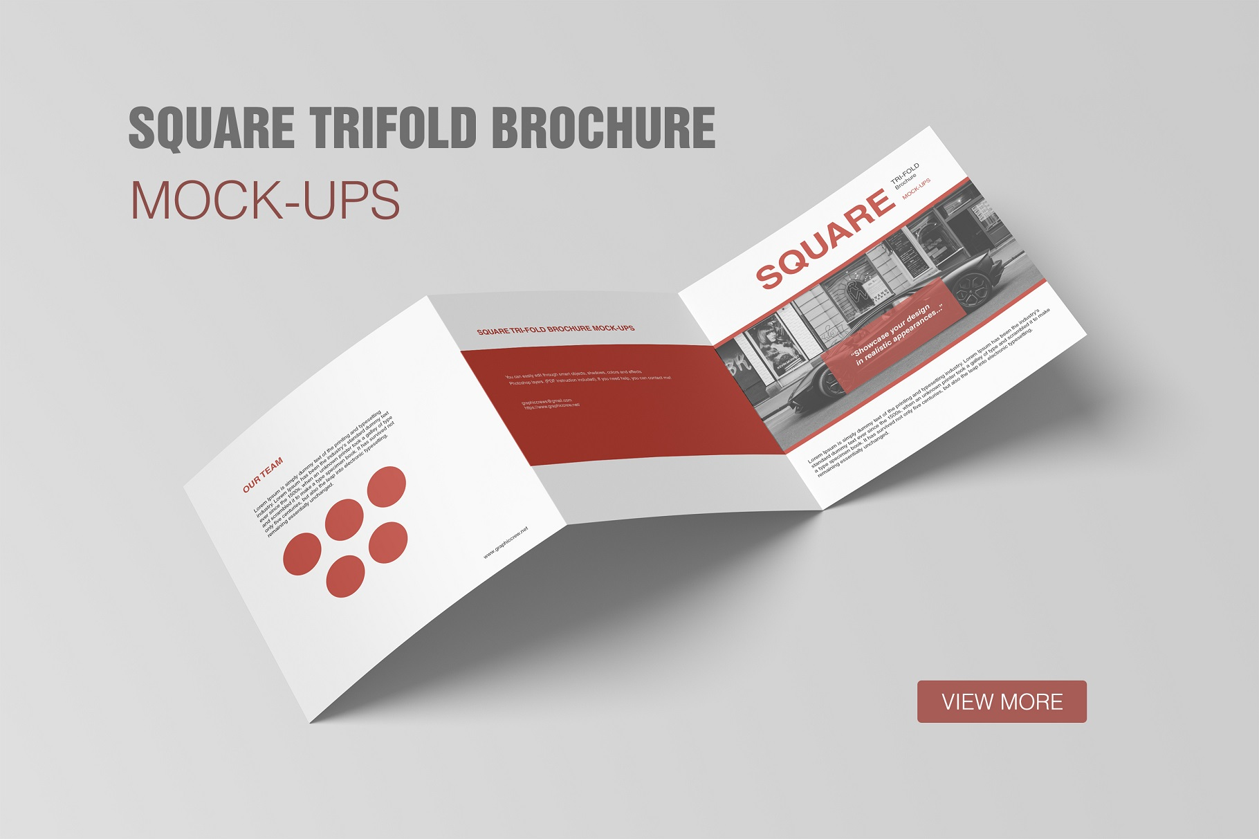 square trifold brochure mockup by graph design bundles
