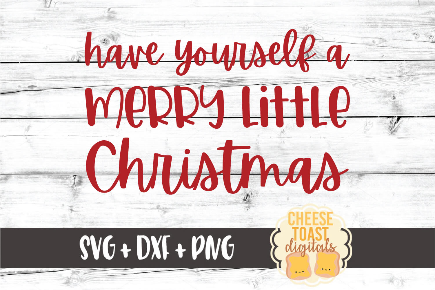 Have Yourself A Merry Little Christmas - SVG PNG DXF Files example image 2