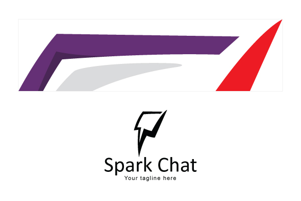 Spark Chat - Iconic Stock Logo Template example image 3