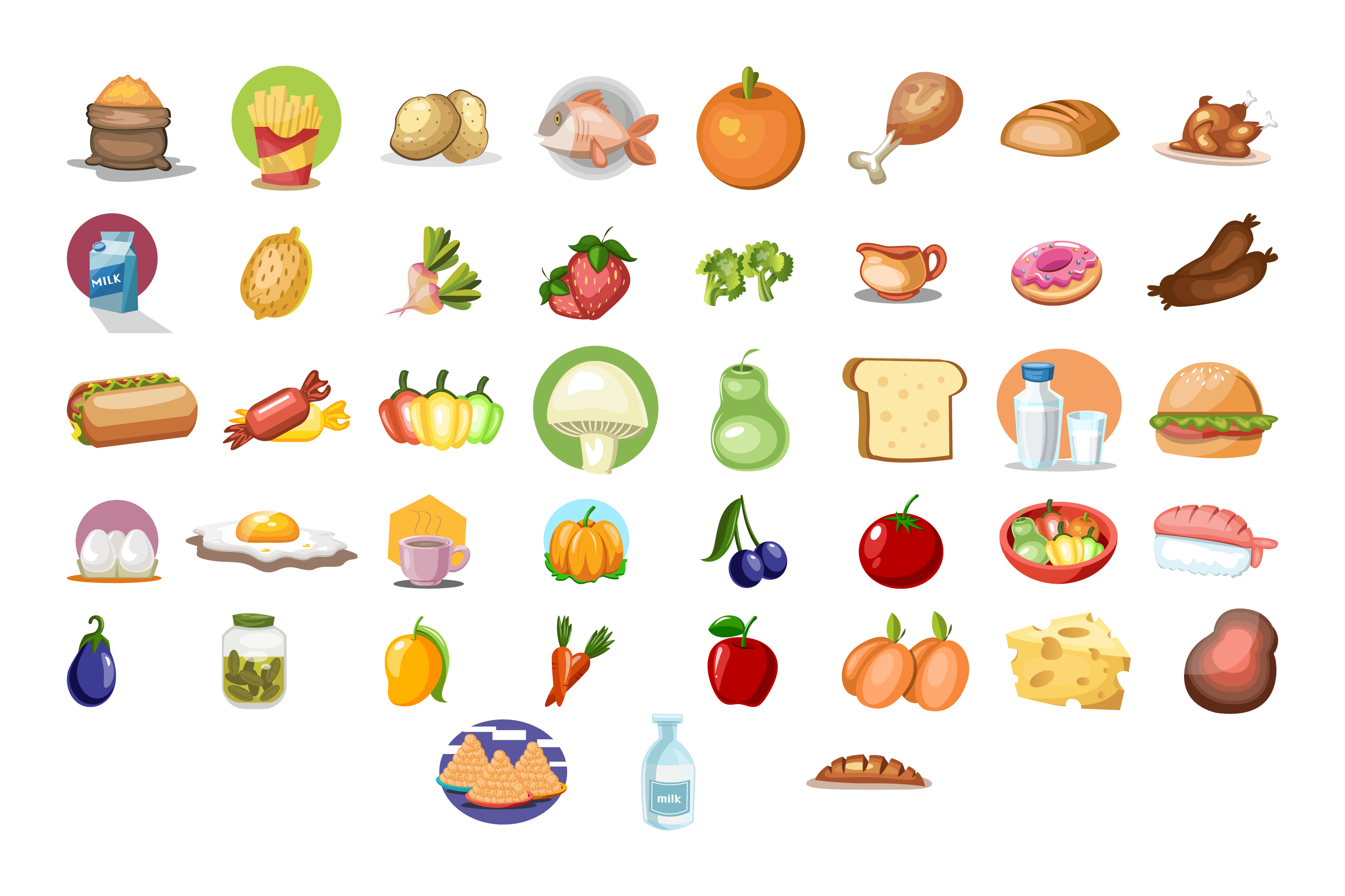 43x Food High Quality vector collection! example image 2