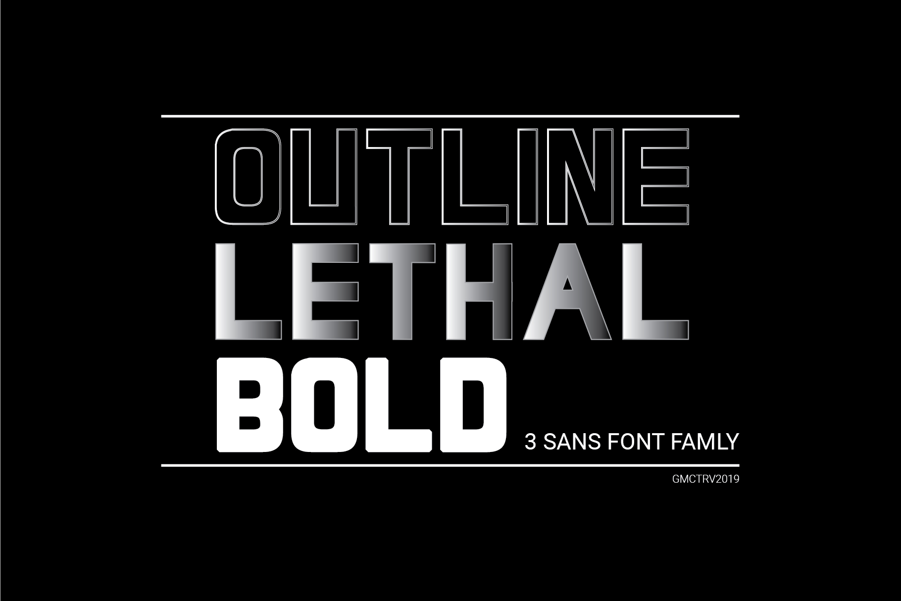 LETHAL - 3 sans font family example image 1