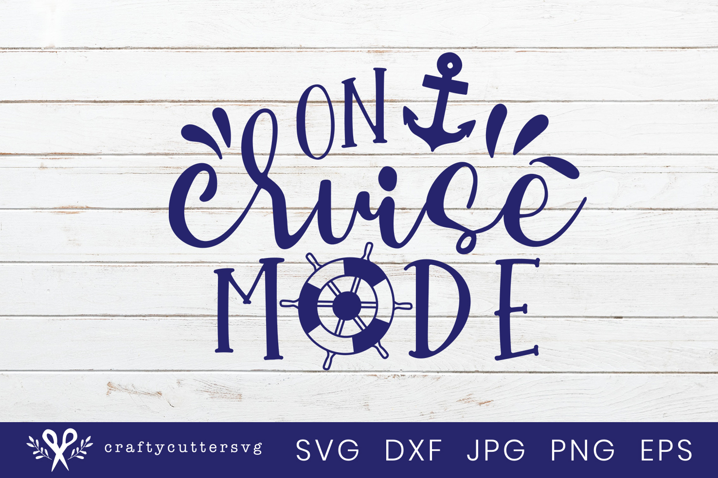 On cruise mode Svg Cut File Anchor Steering Wheel Clipart example image 2