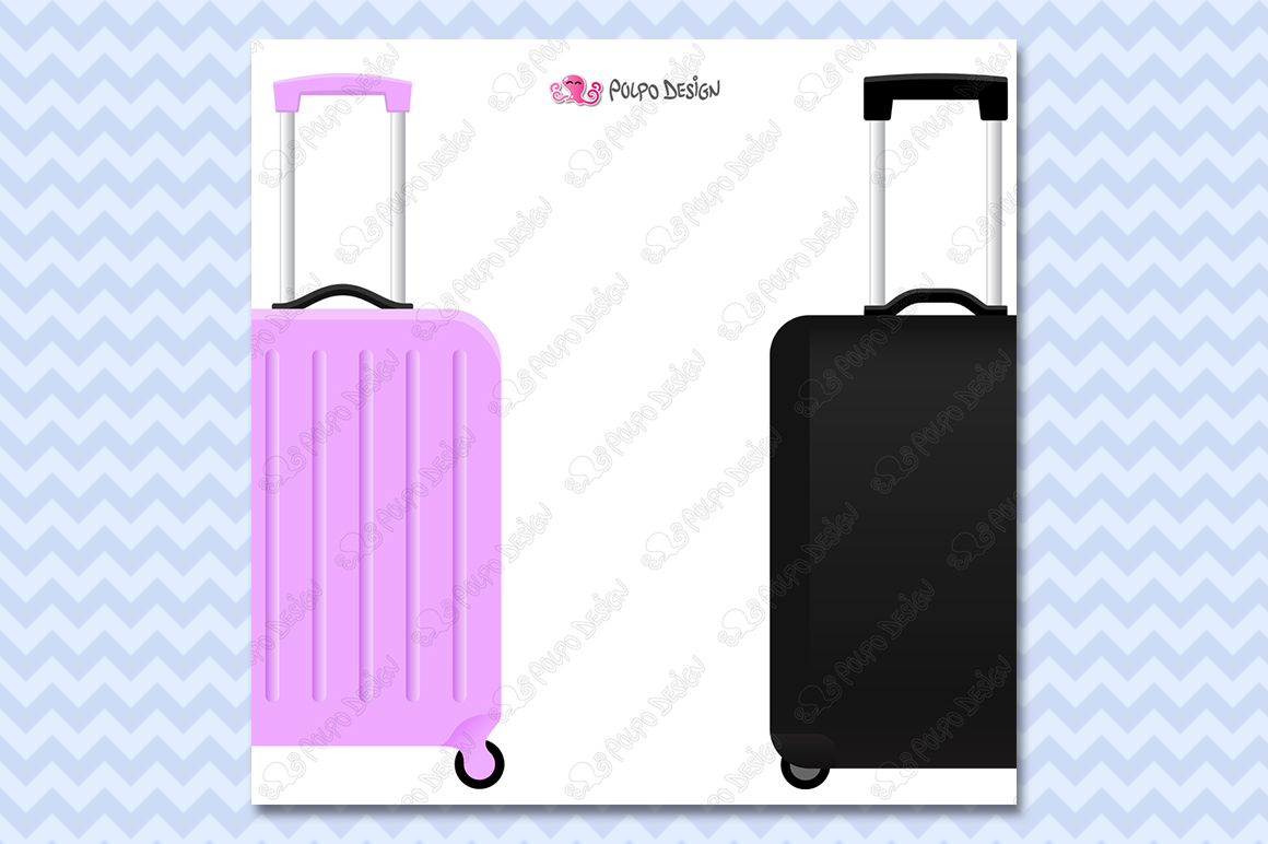 Rolling Suitcase clipart example image 4