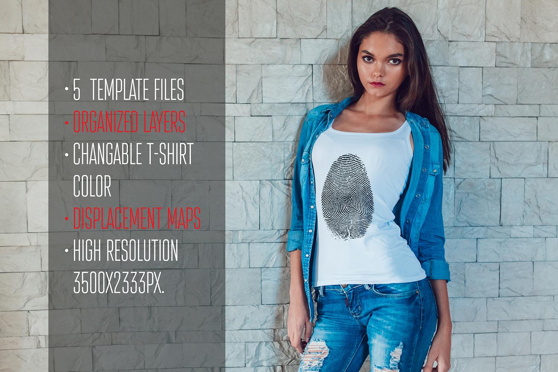 Girls T-Shirt Mock-Up example image 6