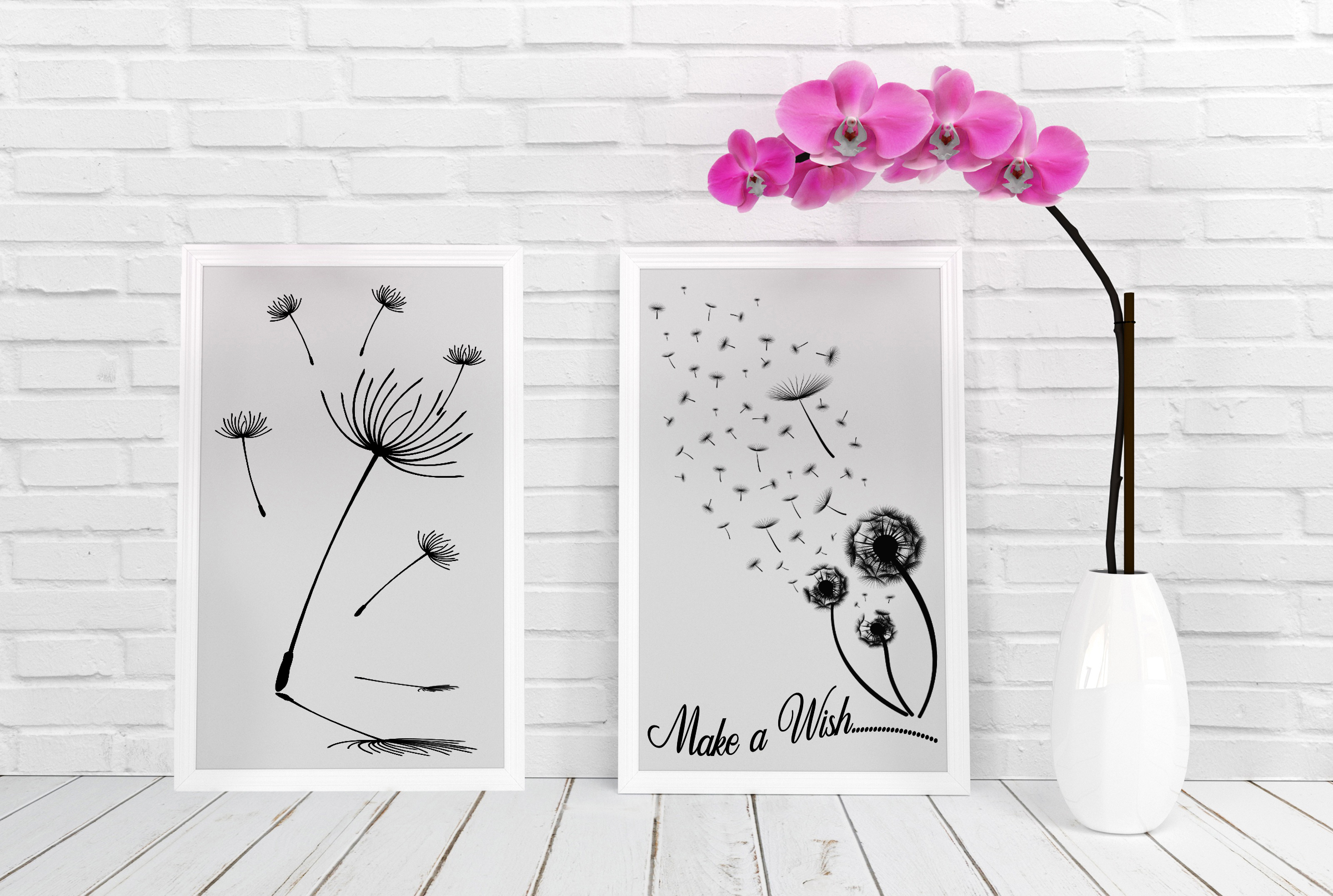 Dandelions and Overlays and Word Art AI EPS PNG example image 6