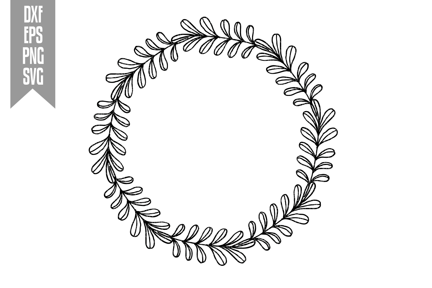 Wreath Svg Bundle - 6 designs included - Svg Cut Files example image 11