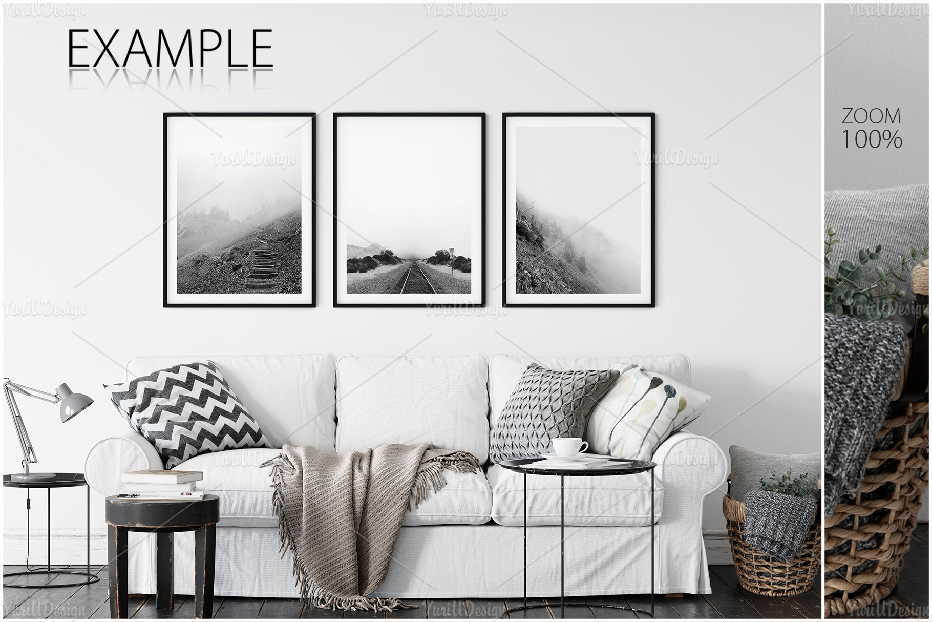 Scandinavian Interior Frames & Walls Mockup Bundle - 3 example image 11
