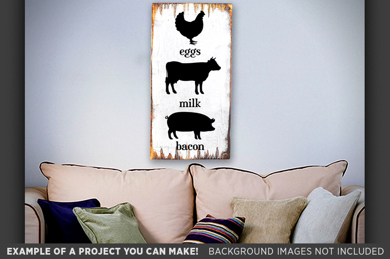 Commitment Chicken Pig Bacon Eggs: Eggs Milk Bacon Sign SVG