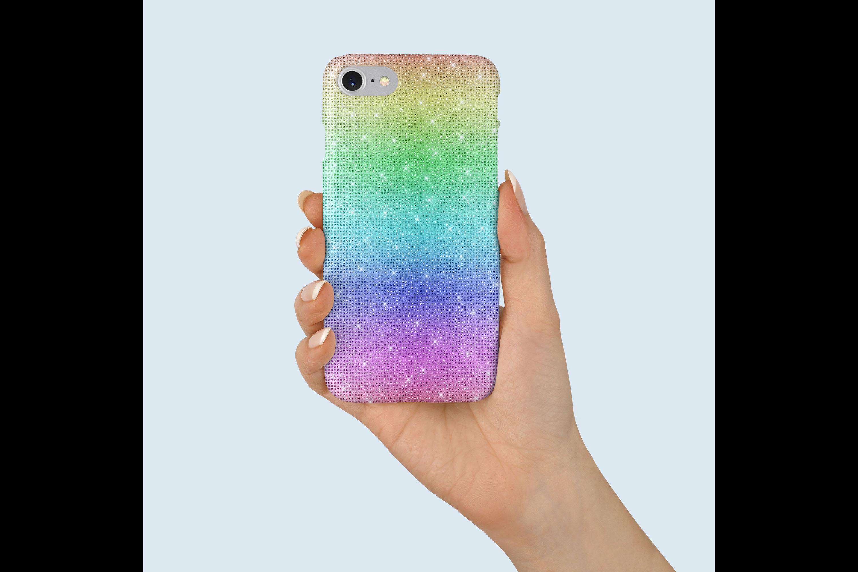 30 Rainbow Shimmering Fairy Unicorn Glitter Digital Papers example image 4